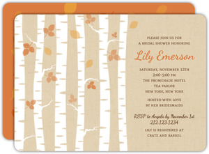 Birch Tree Fall Bridal Shower Invitation