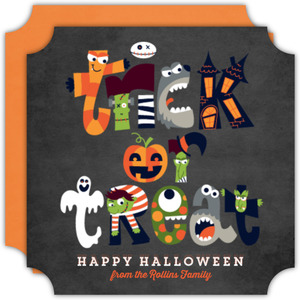 Trick or Treat Photo Halloween Card