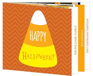 Candy Corn Photo Booklet Halloween Card