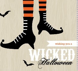 Wicked Witch Halloween Booklet Card