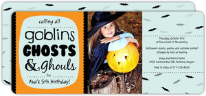 Goblings Ghosts Ghouls Halloween Birthday Invitation