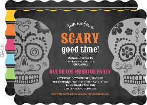Chalkboard Day of the Dead Invitation