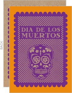 Paper Cutout Day of the Dead Invitation