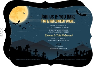 Cemetery Night Halloween Party Invitation