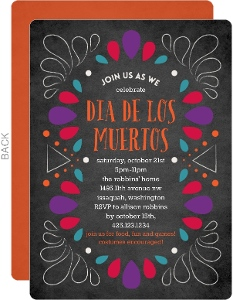 Colorful Frame Day of the Dead Invitation
