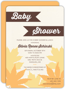 Falling Leaves Baby Shower Invitation