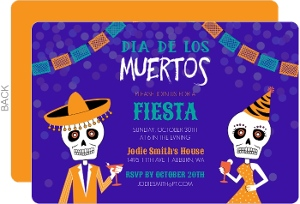 Fiesta Party Dia De Los Muertos Party Invitation