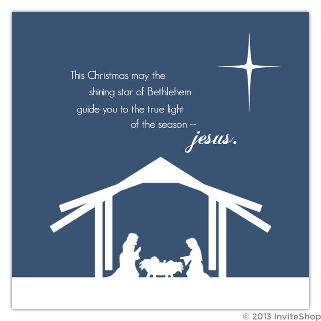 blue nativity christmas card - Nativity Christmas Cards