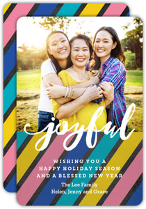 Stripes of Joy Holiday Photo Card