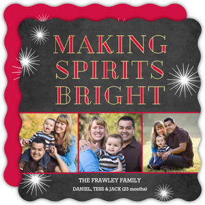 Chalkboard Making Spirits Bright Holiday Photo Card