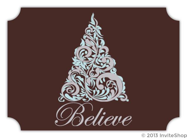 fancy christmas tree christmas card - Fancy Christmas Cards