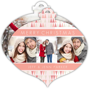 Modern Triangle Pattern Ornament Photo Card