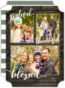 Christmas Blessings Multi Photo Christmas Card