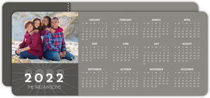 Simple Gray Calendar New Years Card