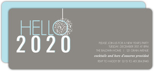 Modern Blue Gray New Years Invitation