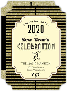 Roaring Twenties New Years Eve Party Invitation