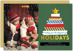 Fun Washi Tape Tree Holiday Photo Card