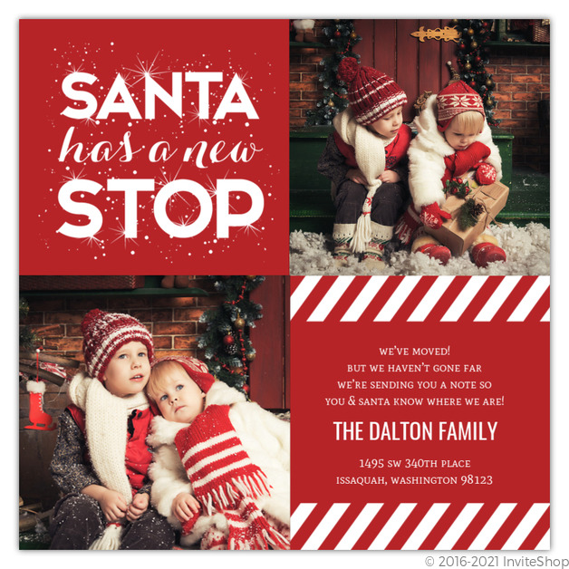 new stop holiday moving announcement holiday cards