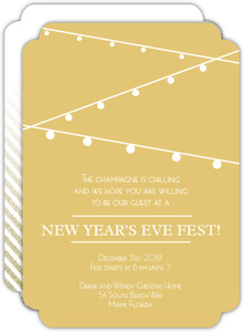 String Light Bright New Years Eve Party Invitation