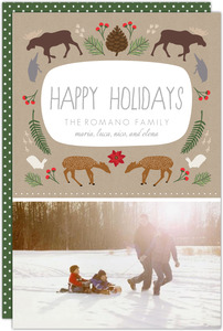 Woodland Creatures Holiday Photo Card