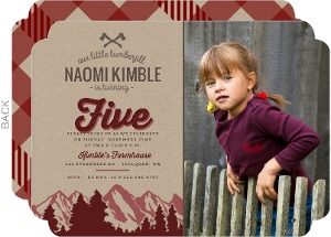 Maroon Mountains & Kraft Lumberjill Birthday Invitation