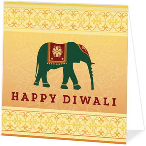 Traditional Ganesha Folded Diwali Card