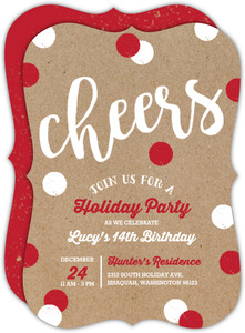 Combination Christmas and Birthday Party Invite