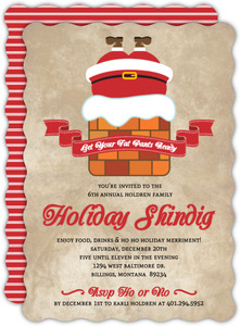 Overstuffed Holiday Party Invite