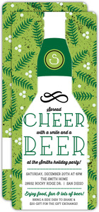 Cheer for Beer Holly Holiday Party Invitation