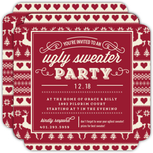 Red Vintage Ugly Sweater Invite