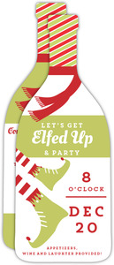 Lets Get Elfed Up Holiday Party Invite