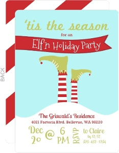 Tis the Season Elfn Holiday Party Invite