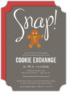 Silly Gingerbread Cookie Exchange Holiday Party Invite