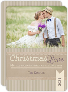 Simple Rustic Kraft Photo Christmas Card
