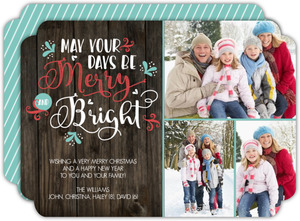 Mint Merry And Bright Holiday Photo Card