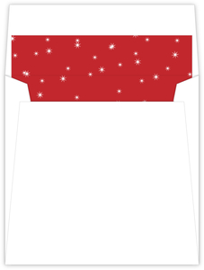 Festive Red Stars Envelope Liner