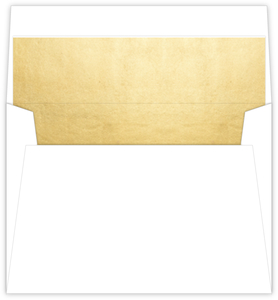 Faux Gold Foil Envelope Liner