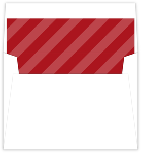Simple Holiday Red Striped Envelope Liner