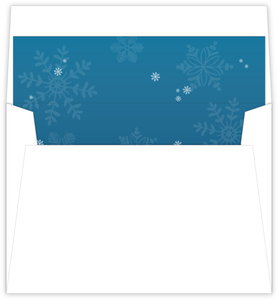 Frostbite Snowflakes Envelope Liner