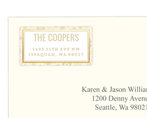Classic Neutral Gold Foil Snowflake Address Label