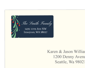 Cute Mistletoe Wreath Address Label