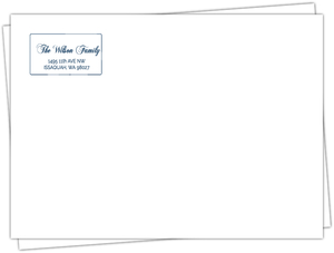 Elegant Simple Silver Border Envelope
