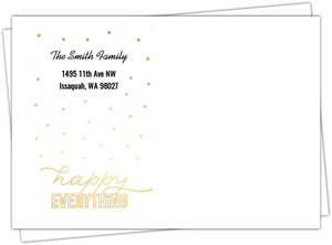 Happy Everything Faux Gold and Turquoise  Envelope