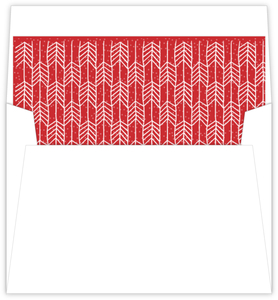 Festive Red Arrow Pattern Holiday Liner