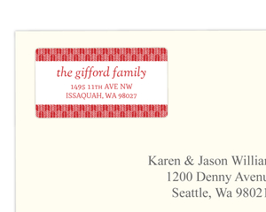 Festive Red Arrow Pattern Address Label