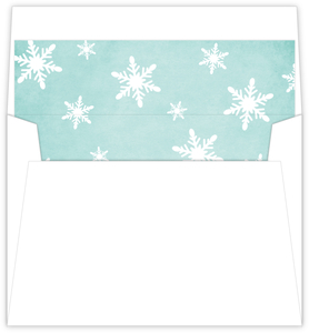 Whimsical Snowflakes Blue Envelope Liner