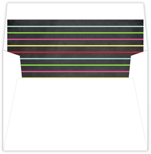 Colorful Bright Stripes Chalkboard Liner
