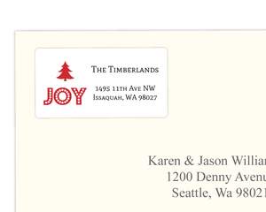 Typographic JOY Holiday Address Label