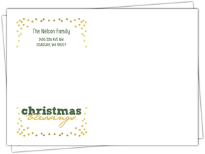 Confetti Typography Christmas Blessing Envelope