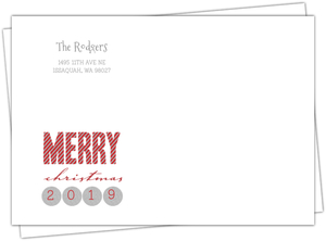 Sparkling Silver Confetti Merry Christmas Envelope